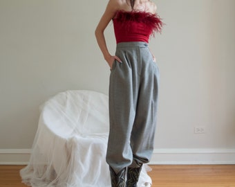 Vintage Giorgio Sant/'Angelo Grey Wool Womens Trouser Dress Pants Size 12