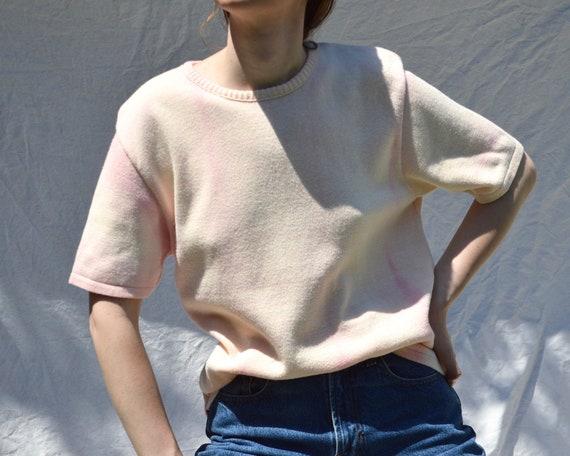 short sleeve cotton tie dye sweater