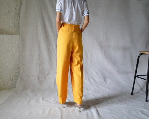 woven marigold pleated trouser / 33w - image 6
