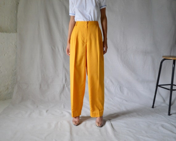 woven marigold pleated trouser / 33w - image 3