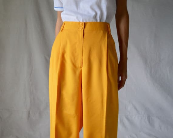 woven marigold pleated trouser / 33w - image 5