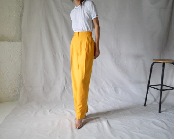 woven marigold pleated trouser / 33w - image 2