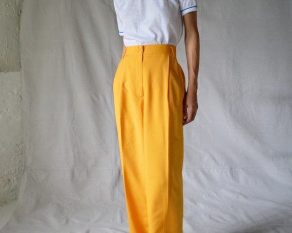 woven marigold pleated trouser / 33w - image 4