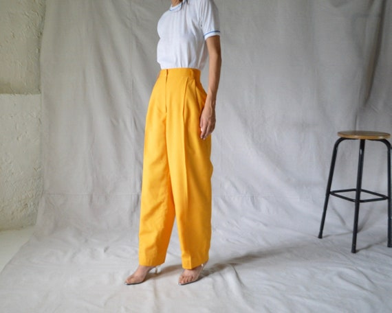 woven marigold pleated trouser / 33w - image 1
