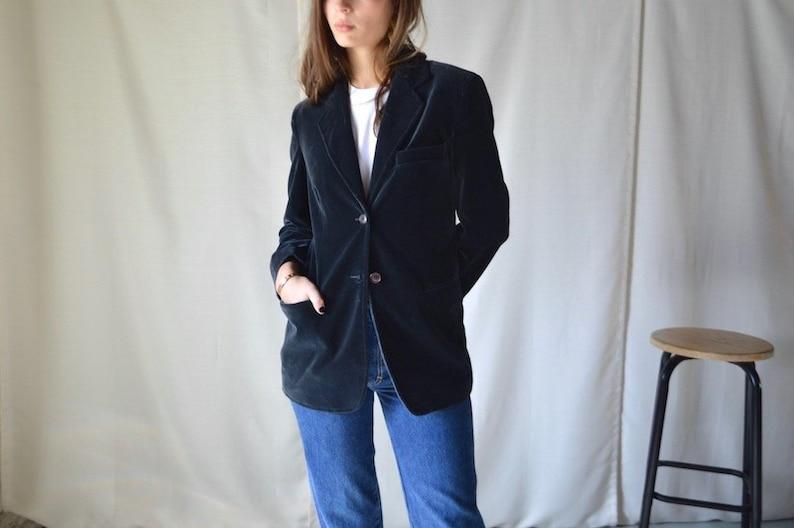 1c168fa7e408 Velour armani blazer   emporio armani   small   velvet blazer