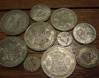 36 High Grade Coins Half Pence Old Great Britain Coin Lot FREE SHIPPING