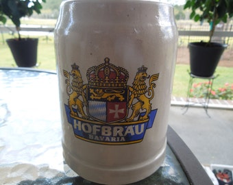 Vintage Hofbrau Tankard, Half Liter Size.  Perfect for the Home Bar.