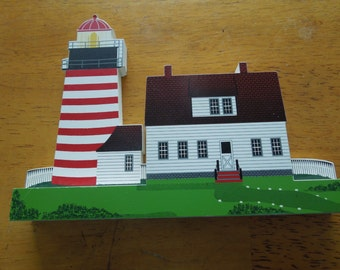 Shelia West Quoddy Head Light, Maine, 1996, PHL04.  Collectible Shelia Lighthouse figure.