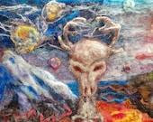 Desert dreams and despair surrealism desert needle felt original work