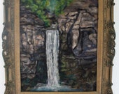 Taughnnock falls 16x20 inches neele felt  painting home decor