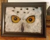 snow owl art needle felt ...