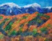 California super bloom  needle felt painting wall decor, wall art, gifts 8x10 inches