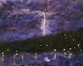 lake storm, lightning str...