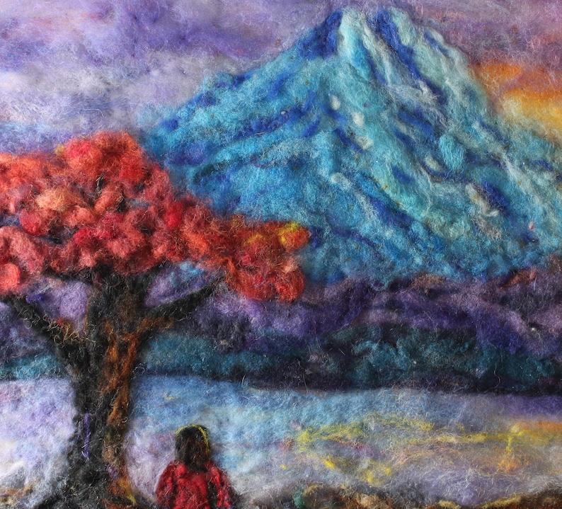 women meditation blue mountain trail country landscape needle image 0