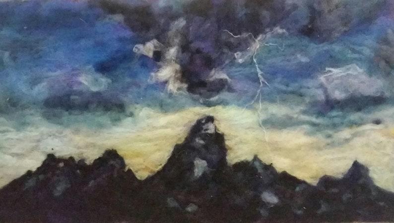 Grand tetons storm lightning strike country mountain image 0