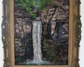 Taughnnock falls 16x20 inches neele felt  painting home decor