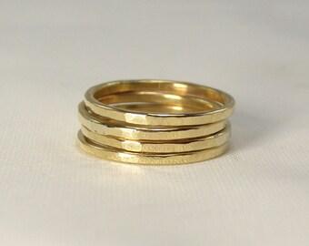 Stacking Brass Ring - Set of 4
