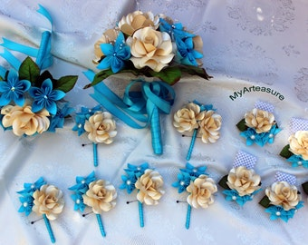 Paper Flower Bouquet Bridal Package