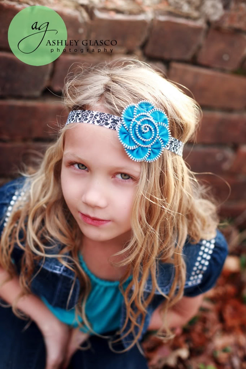 Baby Girl Headbands.Zipper Flower Headband.Zipper image 0
