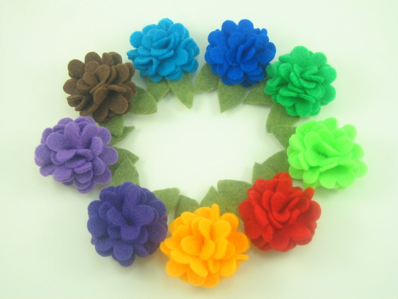 Baby Hair Clips.Toddler Hair Clips.Baby Bows.Baby Felt image 0