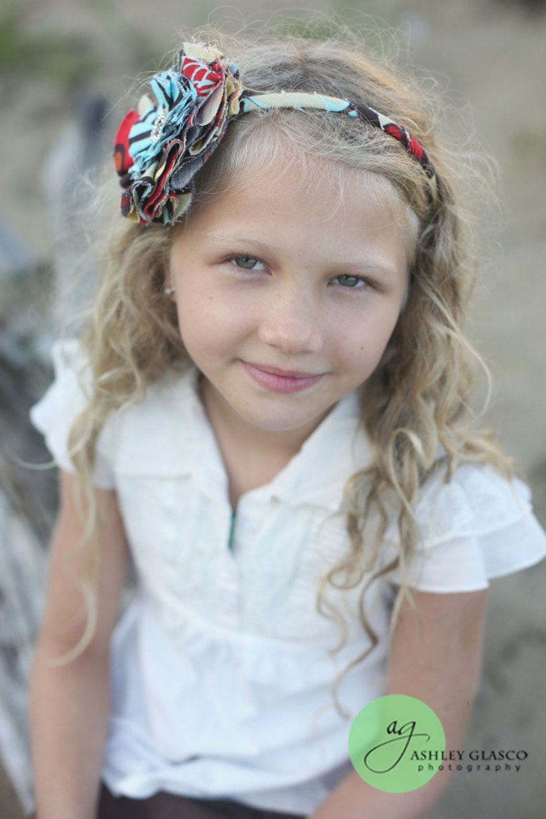 Alexander Henry Mocca and Hollywood Fabric Flower Headband / image 0