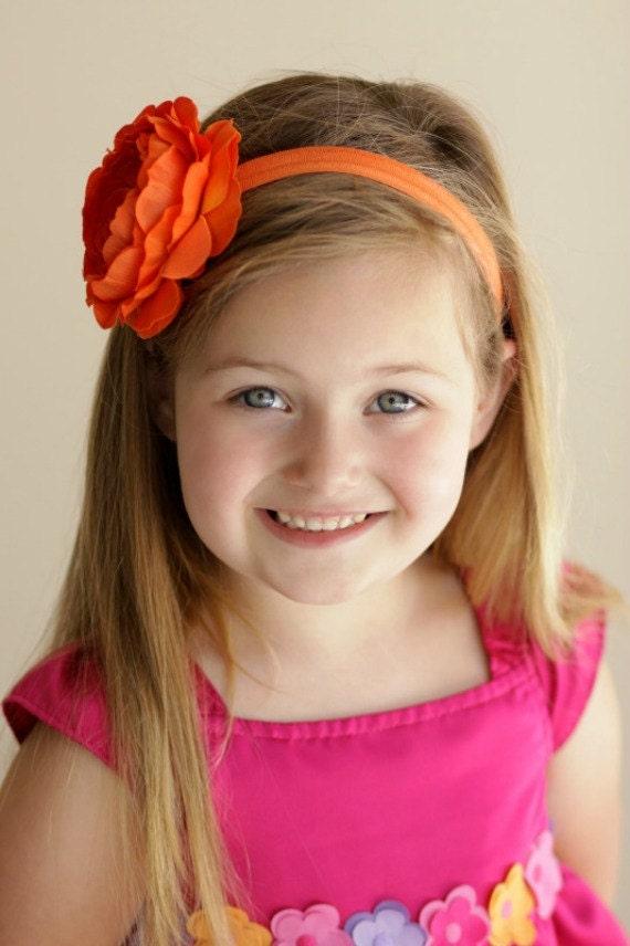 Orange Baby HeadbandOrange HeadbandBaby HeadbandNewborn HeadbandInfant HeadbandBaby Girl HeadbandHalloween HeadbandToddler Headband