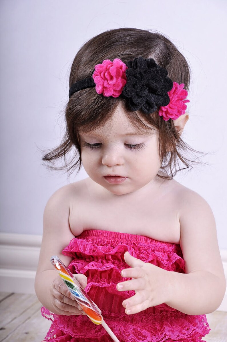 Felt Flower Headband.Baby Girl Headband.Baby Headband.Infant image 0
