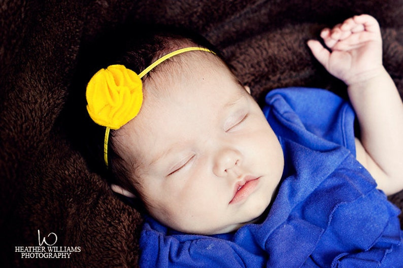 Baby Girl Headbands.Eco Friendly Felt.Infant Baby image 0