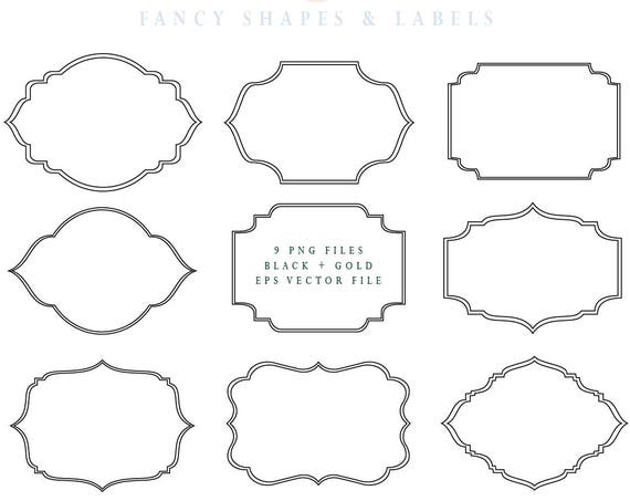 Fancy Ornate Frames - Fancy digital frames - Digital frames - Fancy Frames & Label Shapes - Ornate Decorative frames - Frame shapes