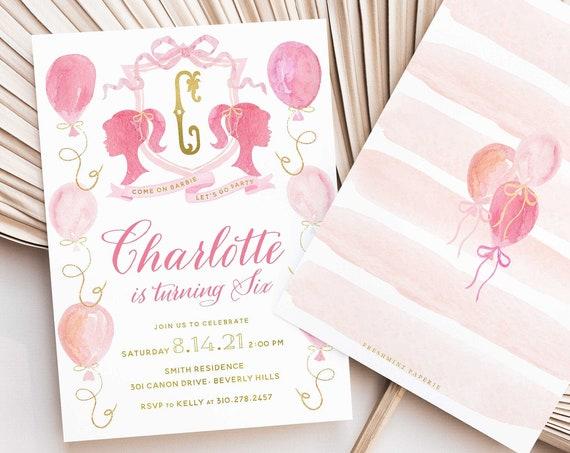 Barbie invitation - Barbie Birthday Invitation - Barbie Party - Barbie Party invitation - Doll Party Invite - Doll invitation