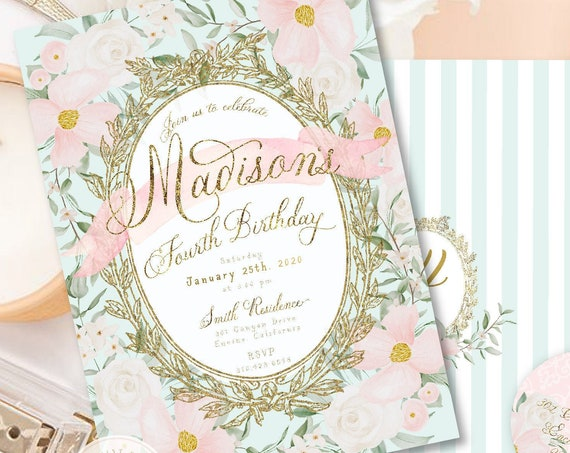 Laduree invitation, Laduree Birthday, Ladurée Party, Ladurée invitation, Parisian invitation, Macaron Invitation, French invitation