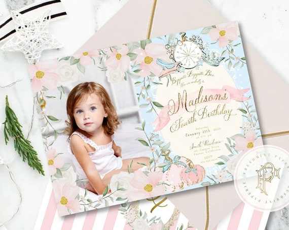 Princess Birthday Invitation, Princess invitation, Cinderella invitation, Royal invitation, Royal Ball Invite, Cinderella Party