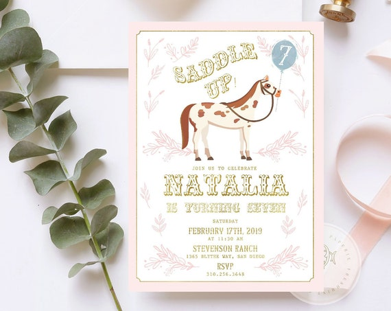 Horse invitation - Horseback Riding invitation - Farm invitation - Equestrian invitation - Horse Ranch invitation - Barnyard invitation