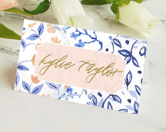 Matching PLACE CARDS - To match any invitation design order - Freshmint Paperie