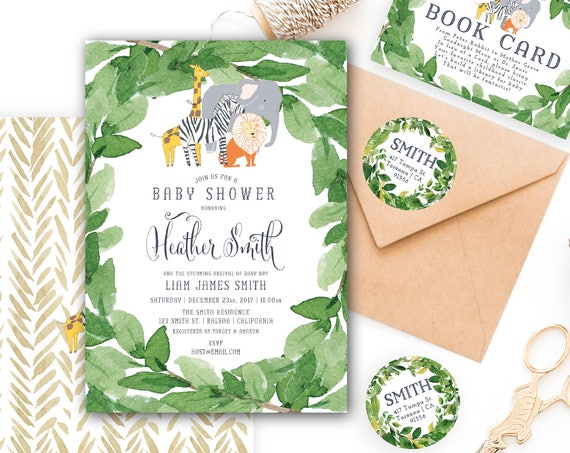 safari invitation | zoo invitation | animal invitation | zoo animals invitation | safari birthday | freshmint paperie