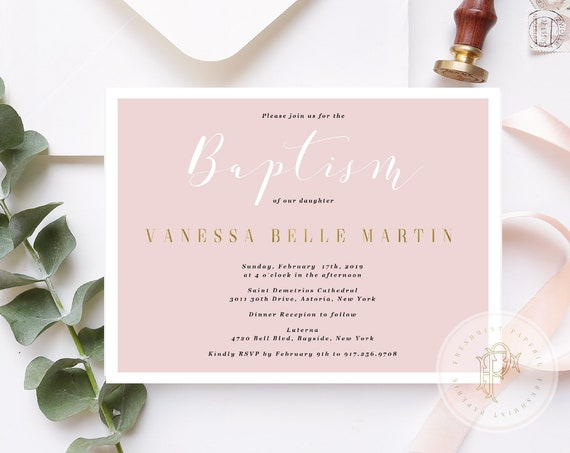Baptism invitations - baptism invitation - christening Invitation - cross invitation - religious invitation -  baptism - cross invite