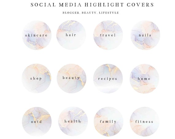 Instagram Story Highlight Icons - Blogger Instagram Story Covers, watercolor Icons, Story cover, Instagram, social media icons, vol.8