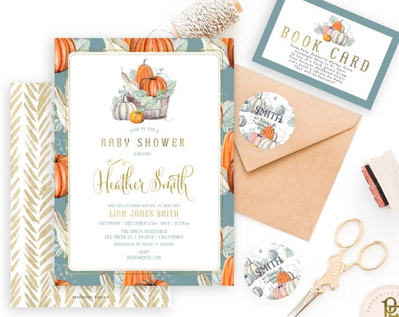 harvest invitation | pumpkin invitation | autumn invitation | pumpkins invitation | thanksgiving invitation | freshmint paperie