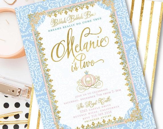 Princess invitation | cinderella invitation | Royal invitation | calligraphy invitation | princess birthday | freshmint paperie