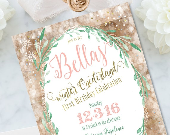 Winter onederland invitation | winter wonderland invitation | first birthday invitation | Snow invitation | Winter Onederland invite | snow