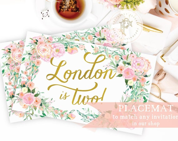 PLACEMAT - Placemat to match any invitation design in our shop - digital -  freshmint paperie