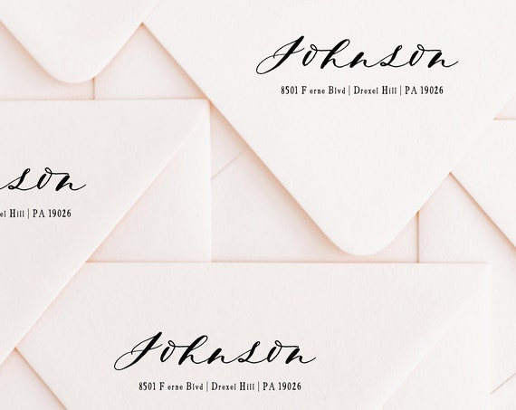 Modern Script Return Labels | Calligraphy return address labels | printable address labels | calligraphy | custom envelope labels