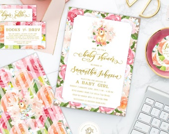 bunny invitations - rabbit invitation - baby shower invitation - watercolor invitation - Easter invitation - freshmint paperie