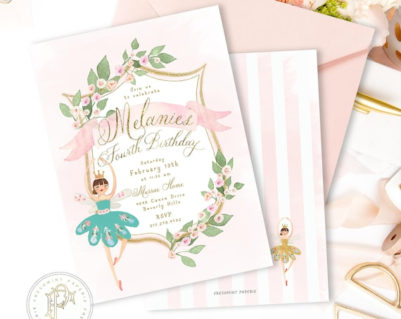 Nutcracker Sugar plum invitation | Nutcracker Sugar plum fairy birthday invitation | Winter ONEderland Invitation | Nutcracker Ballerina