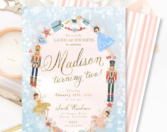 Nutcracker Sugar plum invitation | Nutcracker Sugar plum fairy birthday invitation | Winter ONEderland Invitation | Land of Sweets