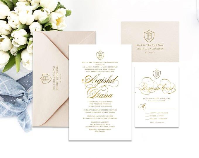 Classic Wedding Invitation | Wedding invitation | Calligraphy Wedding Invitation | Calligraphy invitation | Fancy Wedding invitation | 103