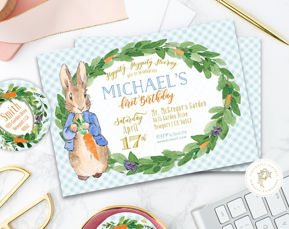 Peter Rabbit invitation | Bunny Birthday Invitation | Easter Invitation | Easter Bunny Invite | Peter Rabbit Invite