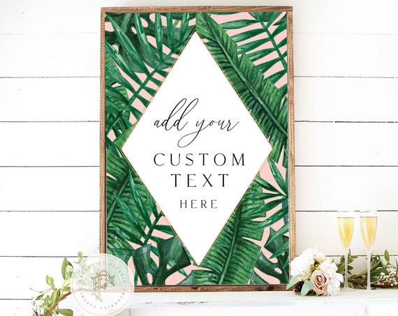 custom printable sign - to match any invitation - freshmint paperie