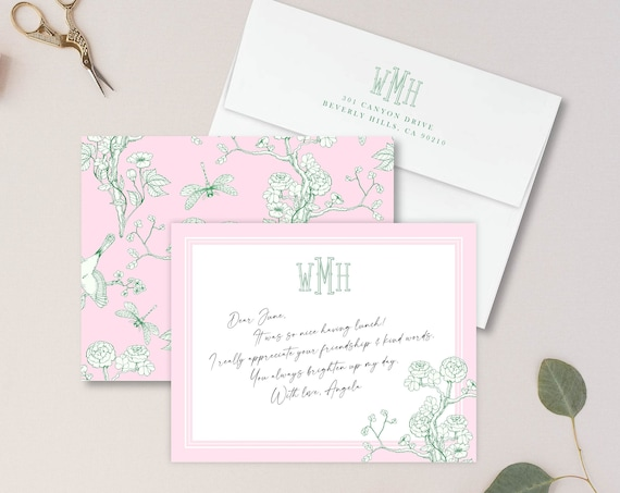 Personalized Stationery - Monogram Note Cards - Monogram Stationery Note Cards - Stationery Suite - Custom Gift for Her