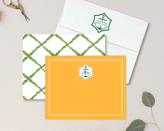 Personalized Stationery - Monogram Note Cards - Monogram Stationery Note Cards - Stationery Suite - Veuve - set33